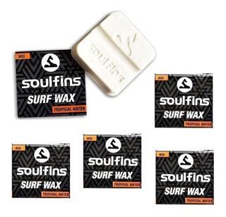 5 Parafina Surf Prancha Wax - 5 Unidades Soul Fins 80g