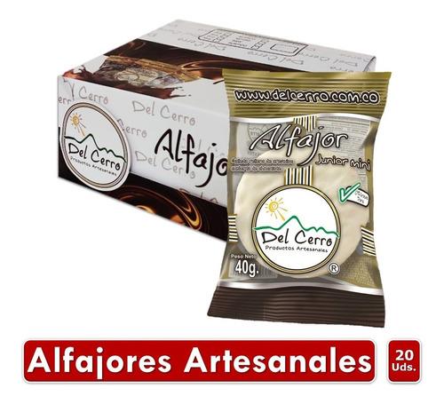 Alfajor Del Cerro 40gr Blanco Display X 20 Unidades