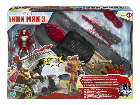 Iron Man 3 Vehículo De Batalla + Figura De Acción Hasbro