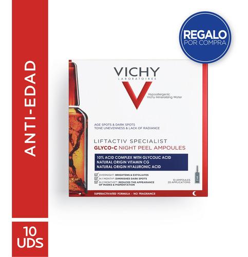 Imagen 1 de 9 de Vichy Liftactiv Ampollas Glyco C Peeling Noche Manchas 10u