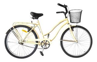 Bicicleta Paseo Peretti Full Dama R26 Canasto Plast. + Envio