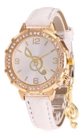 Relógio Feminino Clave De Sol Exclusivo.branco