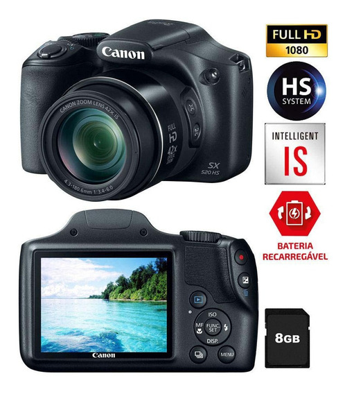 Câmera Digital Canon Powershot Sx520 Hs Semiprofissional