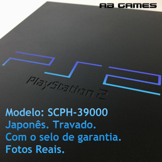 Playstation 2 Ps2 Japonês Fat Scph-39000 Puro Travado
