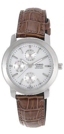 Casio Mtp1192e-7a Reloj De Cuarzo De Cuero Marrón Con Esfera