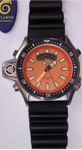 Relógio Masculino Atlantis A3220 Aqualand Jp2000 Laran Borr