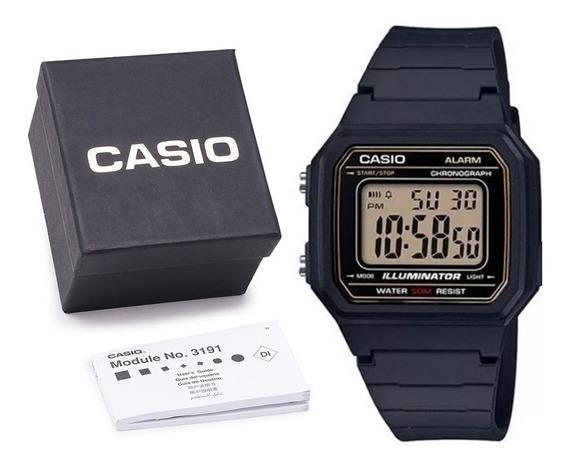 Relógio Casio W-217-h Digital Original C Caixa Manual E Nf