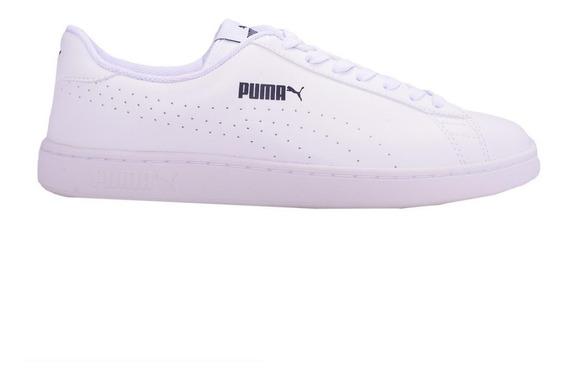 Zapatillas Puma Urbanas Smash V2 Perf Blanco O Negro Abc Dep