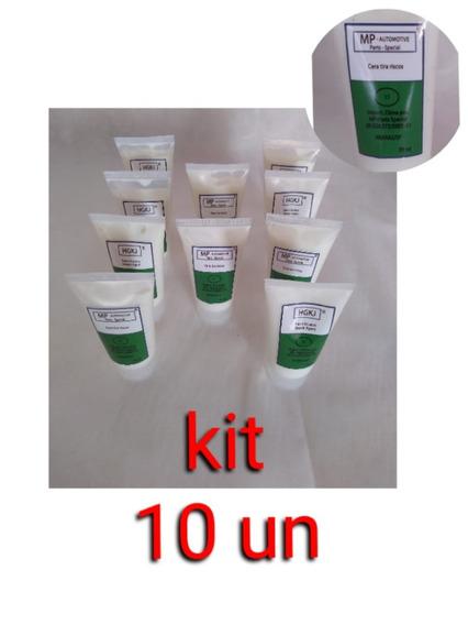 Kit Com 10 Cera Polidora Para Assentos De Banquetas 70ml