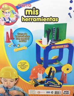 New Plast Mi Primer Carro C/ Herramientas New 10614 Bigshop