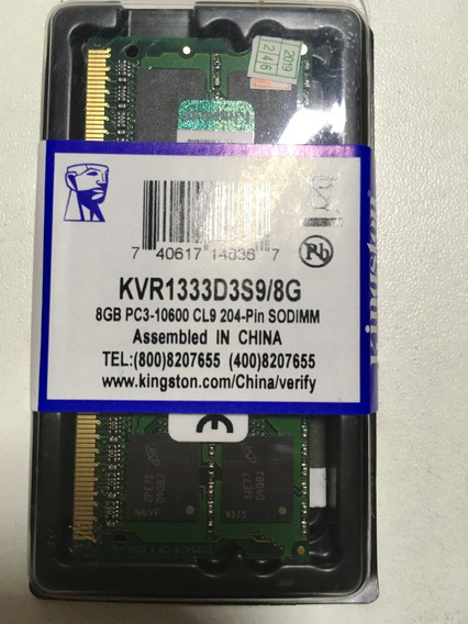 Memória Kingston Notebook Ddr3 8gb 1333mhz - Micron Lacrada