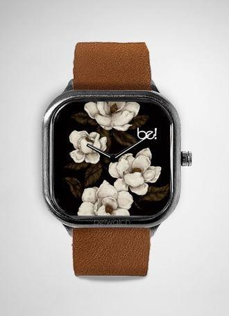 Relogio Flores  White Garden Bewatch Oficial Pulseira Couro