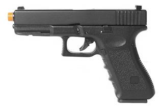 Pistola Airsoft Green Gas Hfc Glock G18 Blowback Slide Metal