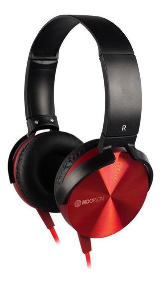 Headphone Hoopson Para Celular E Consoles Ps4/xbox Vermelho