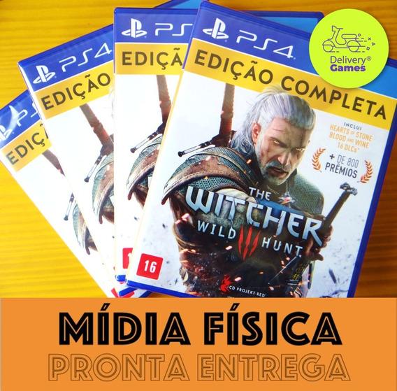 The Witcher 3 Complete Edition Ps4 Mídia Física Lacrado Novo
