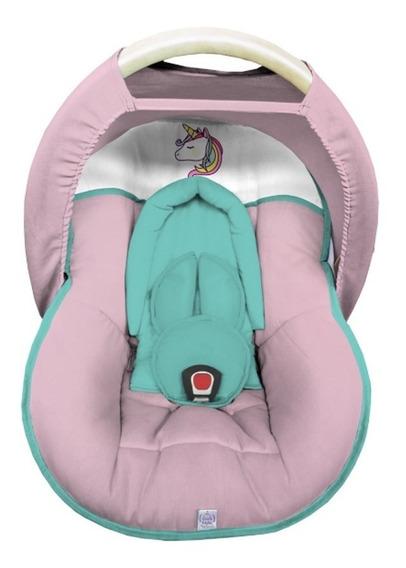 Capa Bebê Conforto Acolchoada Capota Protetor Rosa E Tifany