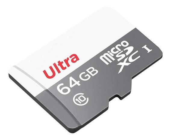 Cartão Micro Sd Sdhc Memória Ultra 64gb Class10 80mb/s Uhs-1