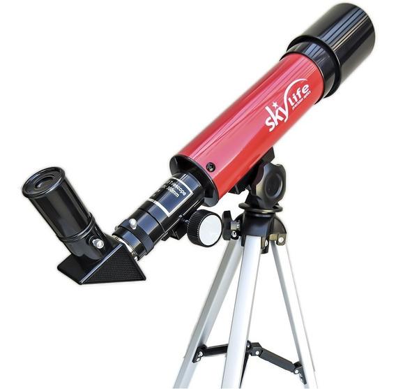 Luneta Telescópio Refrator Novice 60x Red - Skylife Marca Especialista Em Produtos Astronômicos