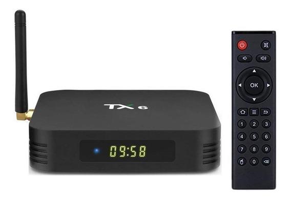 Caixa De Tv Tx6 Android 9.0 4 Gb Ddr3 32 Gb Wifi 4.1 4k