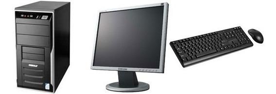 Computador Completo Core 2 Duo 1gb Hd 80gb + Monitor Lcd 17