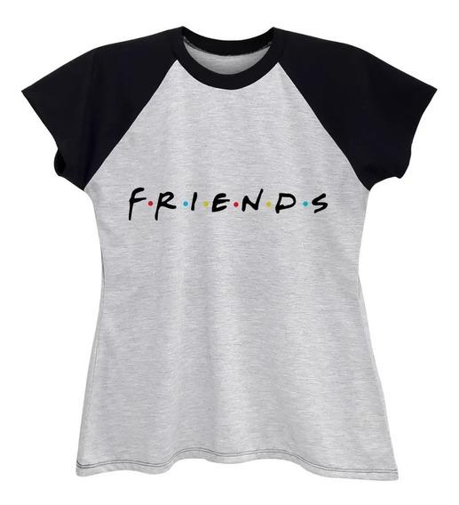 Camiseta Raglan Feminina Série Friends Plus Size Até G6