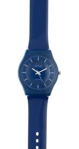 Reloj De Mujer Extra Liviano Color Azul Marca Status S23g