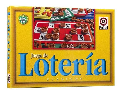 Imagen 1 de 4 de Loteria Juego De Mesa Clasico Green Box Familiar Ruibal Full