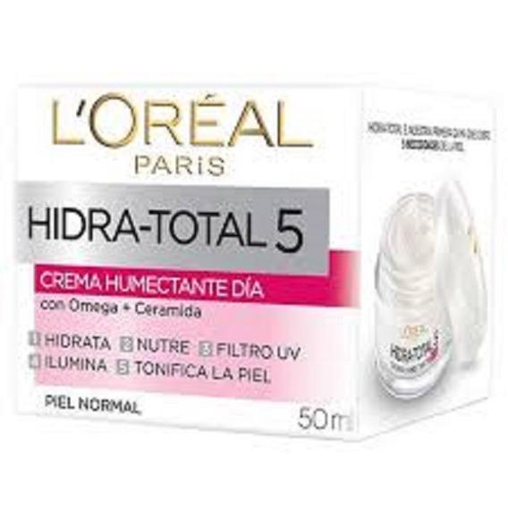 Loreal Hidra Total 5 Con Protector Solar Y Omega Piel Normal
