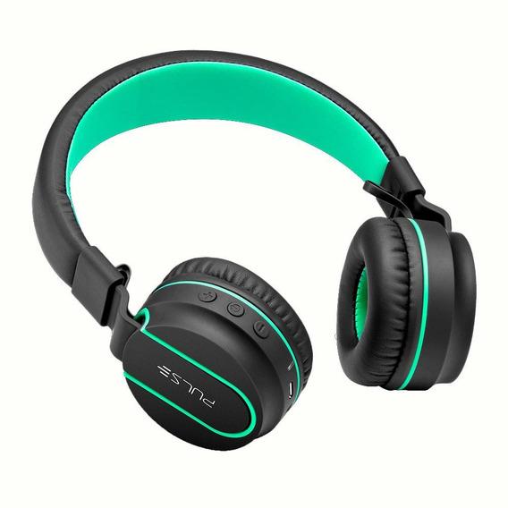 Fone De Ouvido Pulse Fun Bluetooth Series Preto E Verde
