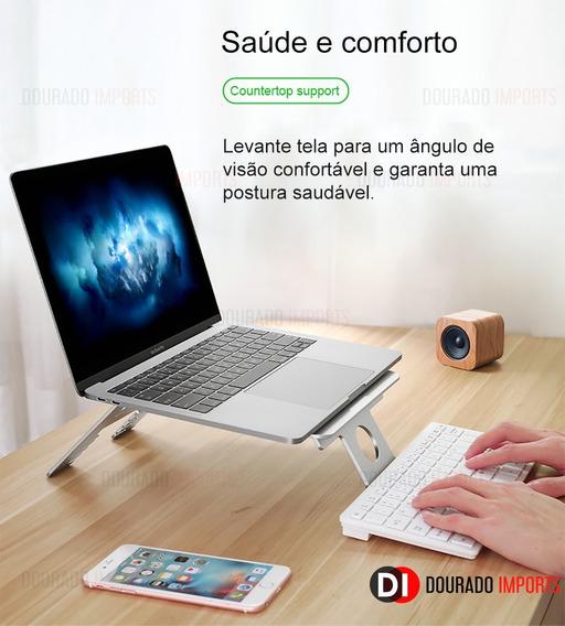 Suporte Ergonômico Laptop Macbook - Ajustável 100% Alumínio
