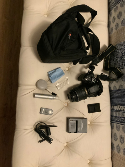 Câmer Nikon D3200 + 1 Lente Af-s Dx 55mm + Cont Rem+bolsa