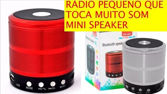 Rádio Mini Speacker Toca Muito Som Portátil Bluetooth Mp3 Fm