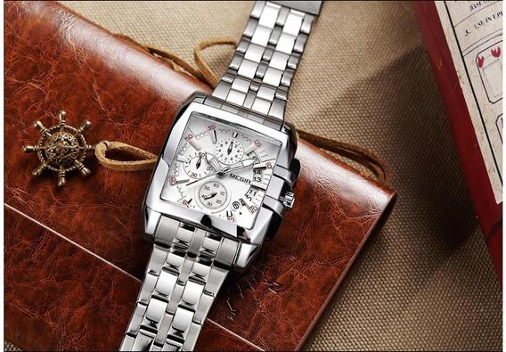 Relógio Pulso Megir - Original - Quadrado - Em Estoque