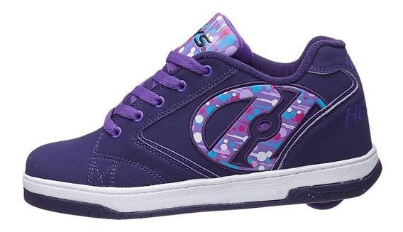 Heelys Propel Purple Zapatos Tenis Con Ruedas Para Niñas