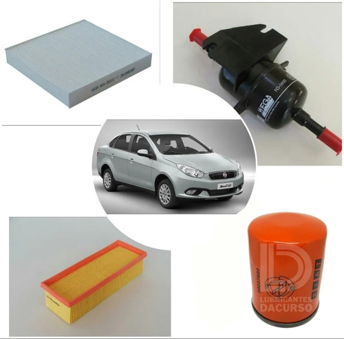 Kit De 4 Filtros P/fiat Grand Siena 1.4 Fire Evo 2012+