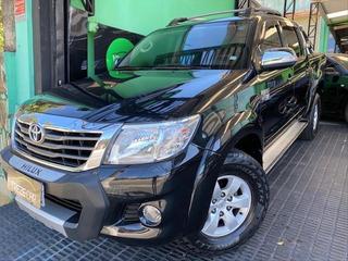Toyota Hilux 2.7 Srv 4x4 Dupla Flex Automática - Couro