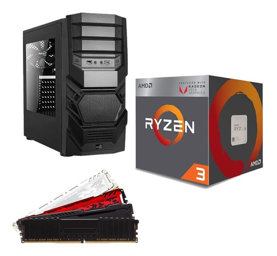 Pc Cpu Gamer Amd Ryzen 3 2200g + 8gb Ddr4 + A320m + Hd 1tb
