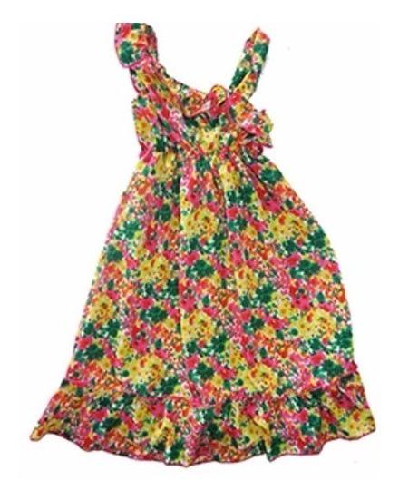 Vestido Gasa, Floreado, Multicolor