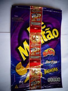 Elma Chips Embalagem Coleção Homem De Ferro 3 Montao Ruffles