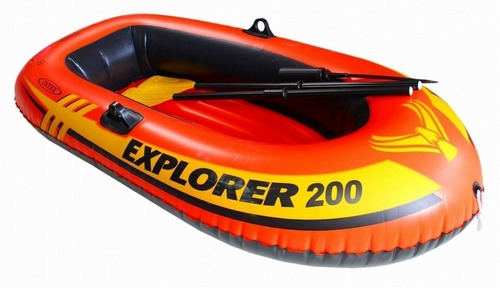 Bote Inflable Para 2 + Remos + Inflador