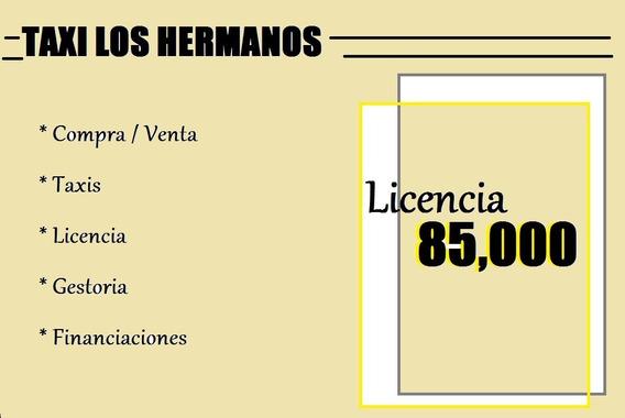 Licencia De Taxi $ 85.000 (c)