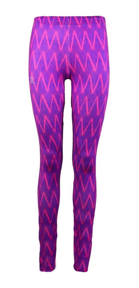 Calza Salomon Graphic Tight Mujer Rosa