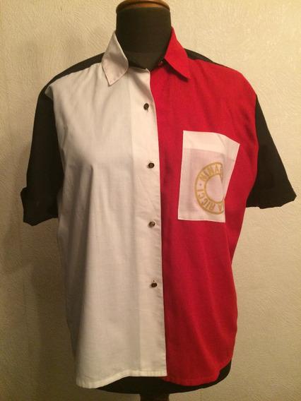 Camisa Blanca/roja/negra Nina Ricci T.44