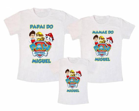 Camiseta Kit Família Patrulha Canina - Personalizado