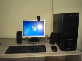 Computador Completo Com Monitor, Wifi E Windows 7