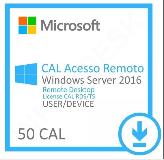 Licença Windows Server 2016 Datacenter + 50 User Esd - Nfe