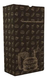 Saco Kraft Embalagem Pequeno P/ Delivery Hambúrguer 250und