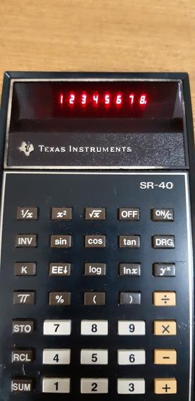 Calculadora Texas Instrumentos Sr-40 (antiga E Funcionando)