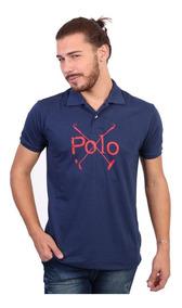 Camisa Polo England Polo Club Estampada Polos Marinho