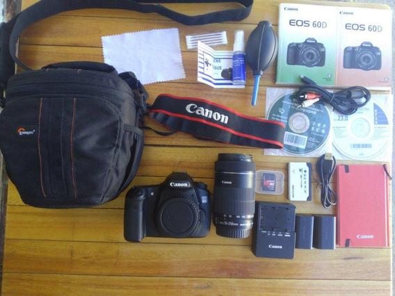 Canon 60d + Lente 55-250 Is Stm + Acessórios